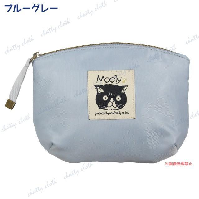 [メール便対応] モーリーフラットポーチ(ノアファミリー 猫グッズ ネコ雑貨 ポーチ ねこ柄) 051-A819 chatty-cloth 04