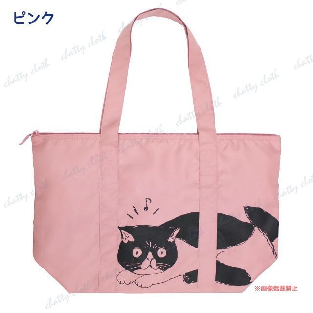 [メール便対応] モーリー折り畳みトートバッグ(ノアファミリー 猫グッズ ネコ雑貨 バッグ ねこ柄) 051-A820 chatty-cloth 05