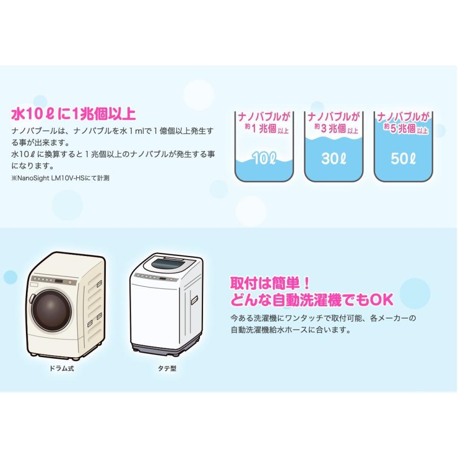 正規販売店 洗濯革命 ナノバブール 魔法の洗濯ホース ナノバブル洗浄で洗浄力 消臭力UP トルネード水流でナノバブル1兆個以上 ウルトラファインバブル|cheaper-shop-sell|08