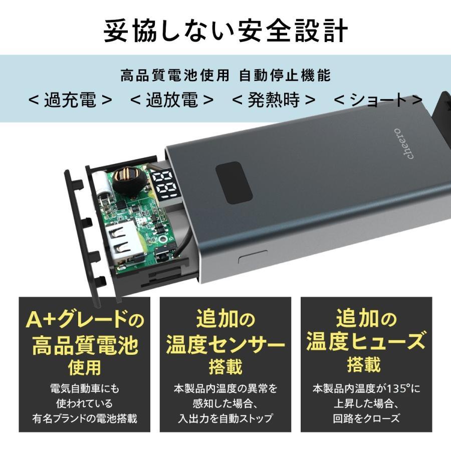 モバイルバッテリー 急速充電 パワーデリバリー 対応 iPhone / iPad / Android 大容量 チーロ cheero Power Plus 5 10000mAh Type-C 2ポート出力 PSEマーク付|cheeromart|06