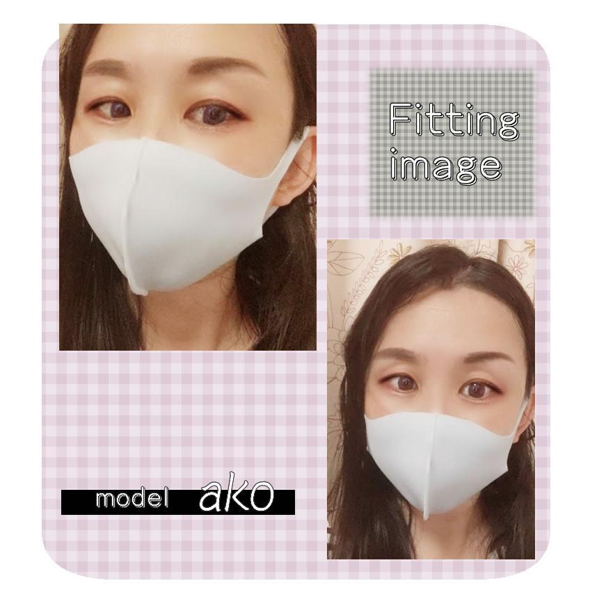 冷感 マスク 濡らす 立体 3枚 速乾 夏 男女兼用 マスク 女性 大人 シンプル ひんやり 冷たい クール 接触冷感|cherie-box|08