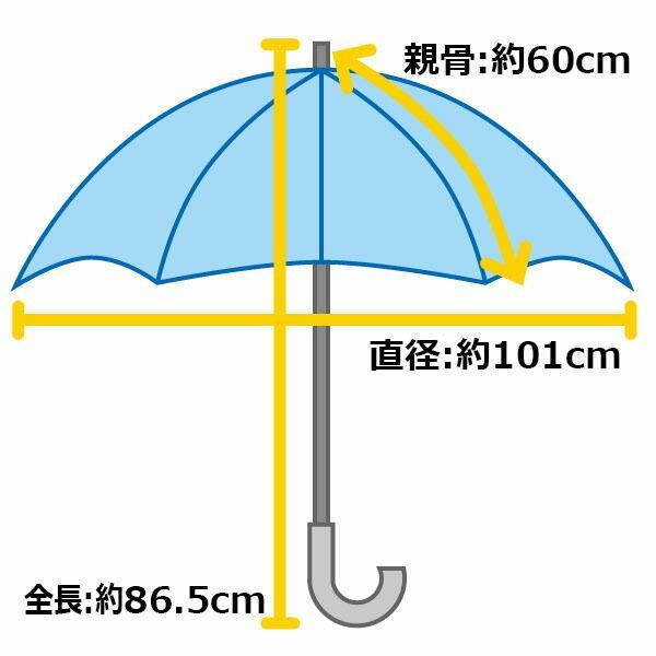傘 超撥水 ウォーターフロント Waterfront ウォーターバリアクールマジックガールズ富山サンダージャンプ長傘 女性 レディース 晴雨兼用傘 CMGT-1L60-UJ-3T chicclover 18