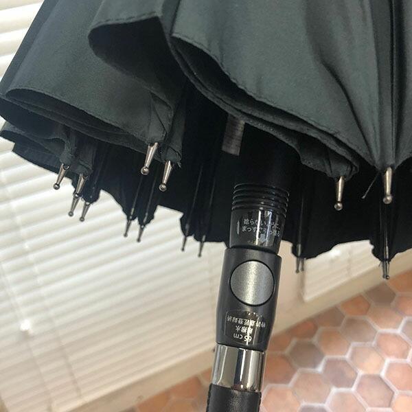 Waterfrontウォーターフロント 富山サンダー20本骨ジャンプ長傘 男性 雨傘 全4色 親骨65cm TS20-1L65-UJ-2T|chicclover|04