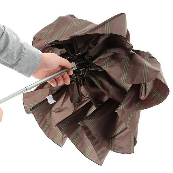 傘 Waterfront ストロングアーミーストライプ折りたたみ傘 男性 雨傘 全3色 親骨65cm STAST-3F65-UH-1T【店長おすすめ】 chicclover 13