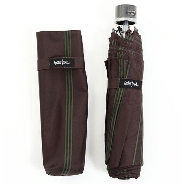 傘 Waterfront ストロングアーミーストライプ折りたたみ傘 男性 雨傘 全3色 親骨65cm STAST-3F65-UH-1T【店長おすすめ】|chicclover|10