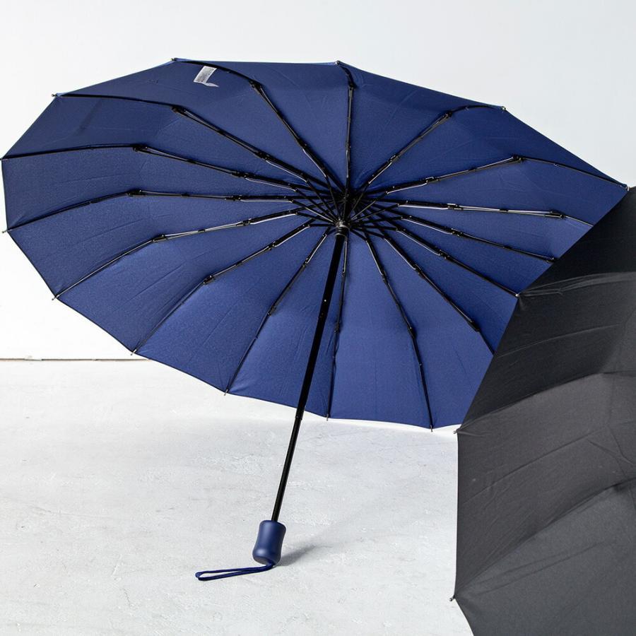 2020年新作 傘 メンズ ウォーターフロント Waterfront 16本骨折りたたみ傘 16RIB Folding Umbrella 男性 学生 晴雨兼用傘 雨傘 日傘 全2色|chicclover|13
