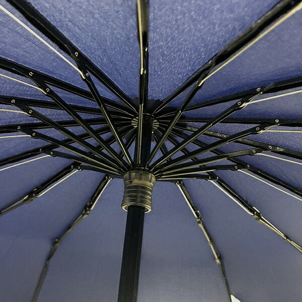 2020年新作 傘 メンズ ウォーターフロント Waterfront 16本骨折りたたみ傘 16RIB Folding Umbrella 男性 学生 晴雨兼用傘 雨傘 日傘 全2色|chicclover|07