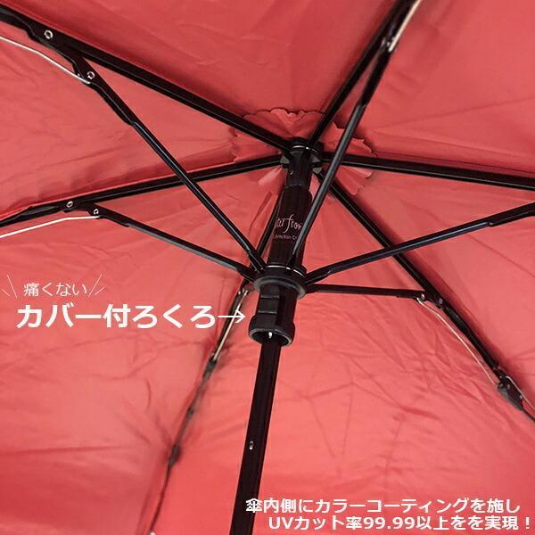 傘 ウォーターフロント Waterfront 極軽カーボン中面カラーコティング折りたたみ傘 女性 レディース メンズ 超撥水加工 晴雨兼用傘 雨傘 日傘 CSFA-3F53-SH|chicclover|05