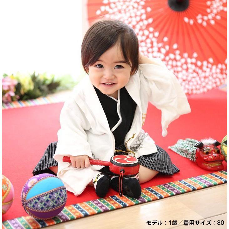 2a4ad05045214 袴 ロンパース カバーオール ベビー服 赤ちゃん 男の子 初節句 こどもの ...