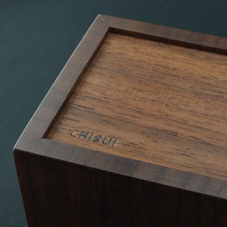 ペンスタンド  ブラックウォールナット スクエア ダブル ペン立て 木製 ウォルナット シンプル おしゃれ 雑貨 高品質 上質 ギフト プレゼント 贈り物 社内 上司|chisui|04