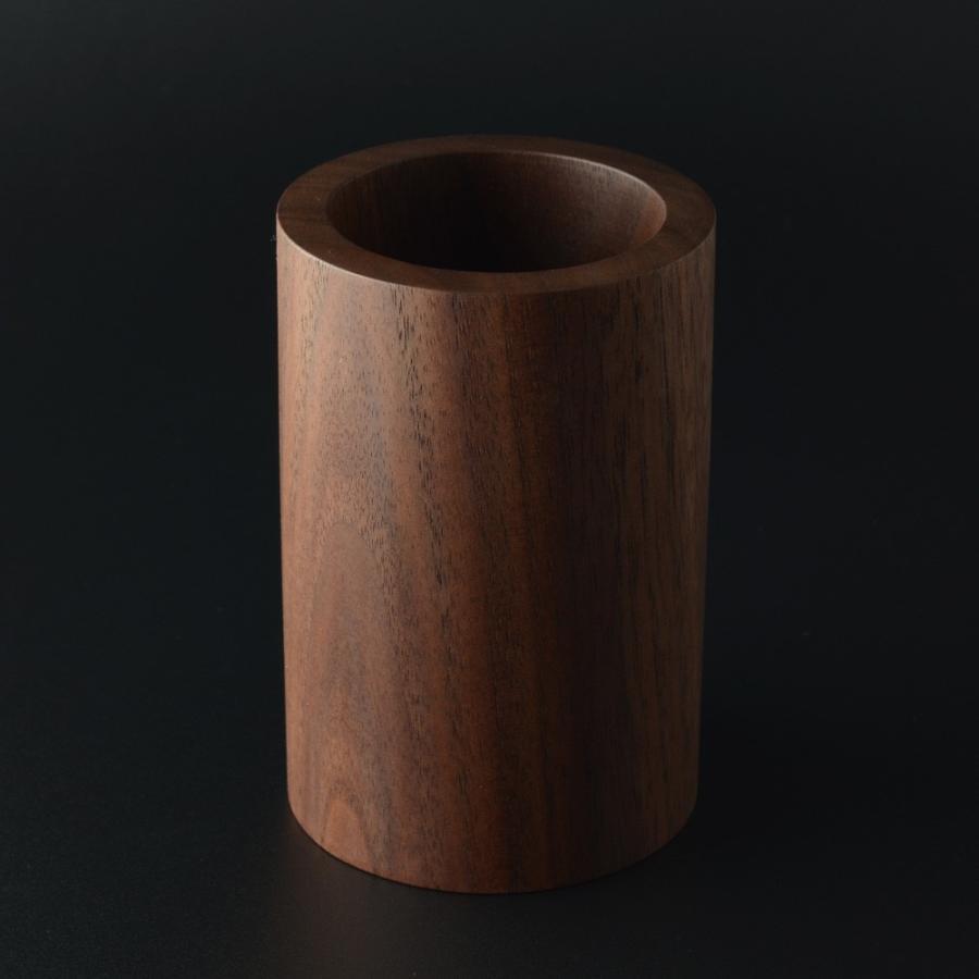ペンスタンド ブラックウォールナット ラウンド ペン立て 木製 ウォルナット シンプル おしゃれ 雑貨 高品質 上質 ギフト プレゼント 贈り物 社内 上司|chisui|02