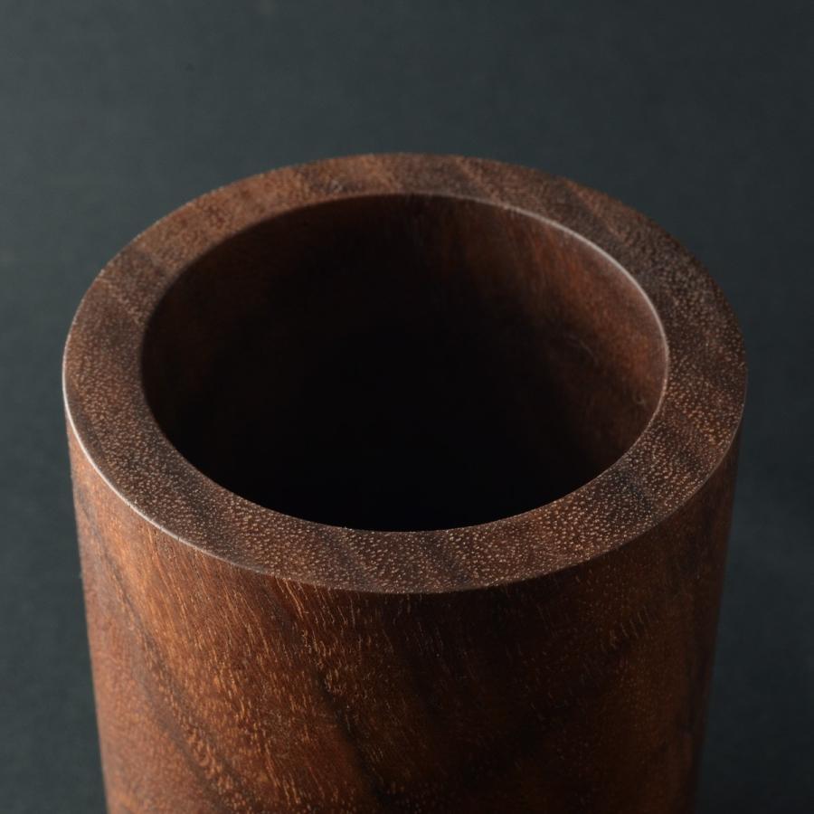 ペンスタンド ブラックウォールナット ラウンド ペン立て 木製 ウォルナット シンプル おしゃれ 雑貨 高品質 上質 ギフト プレゼント 贈り物 社内 上司|chisui|05