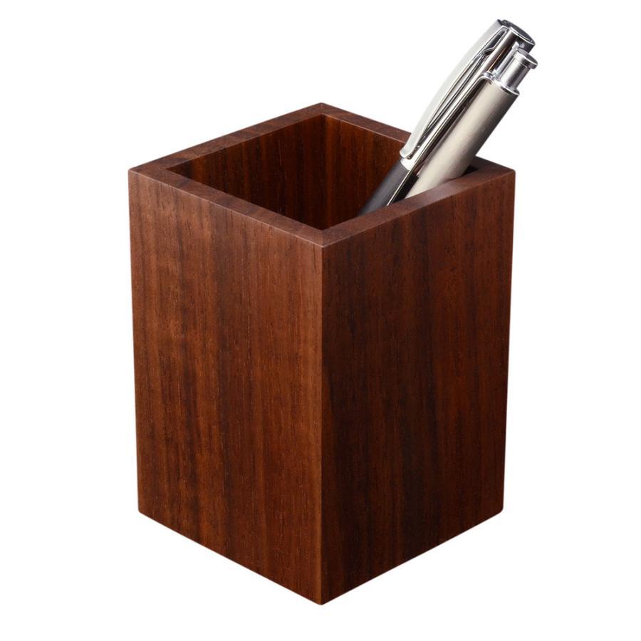 ペンスタンド ブラックウォールナット スクエア シングル ペン立て 木製 ウォルナット シンプル おしゃれ 雑貨 高品質 上質 ギフト プレゼント 贈り物 社内 上司|chisui
