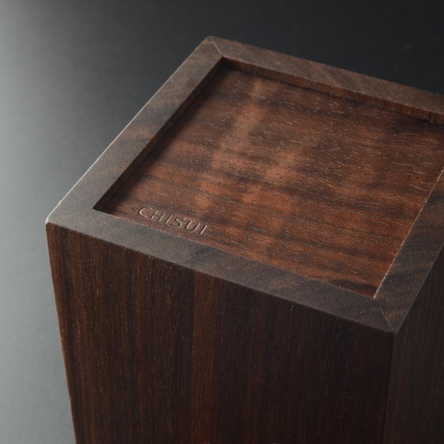 ペンスタンド ブラックウォールナット スクエア シングル ペン立て 木製 ウォルナット シンプル おしゃれ 雑貨 高品質 上質 ギフト プレゼント 贈り物 社内 上司|chisui|06