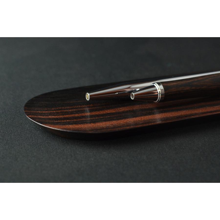 ペントレイ 縞黒檀 ペントレー ペン皿 トレイ トレー 木製 シンプル デザイン 無垢 おしゃれ 高品質 上質 ギフト プレゼント 贈り物 社内 上司 chisui 05