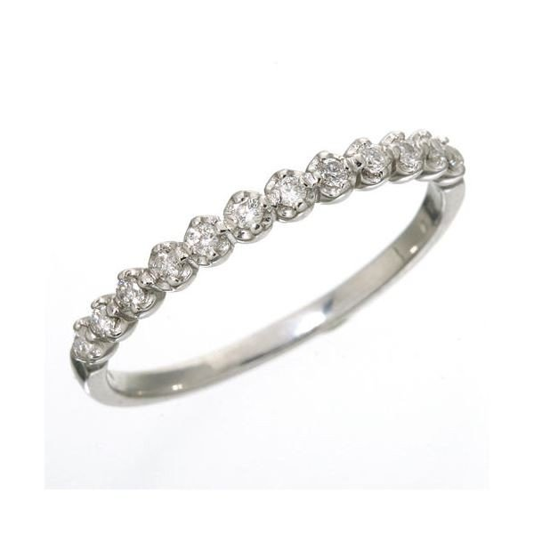 正式的 K18 ダイヤハーフエタニティリング ホワイトゴールド 15号 指輪, ミリタリー百貨シービーズ 3b7bcad4