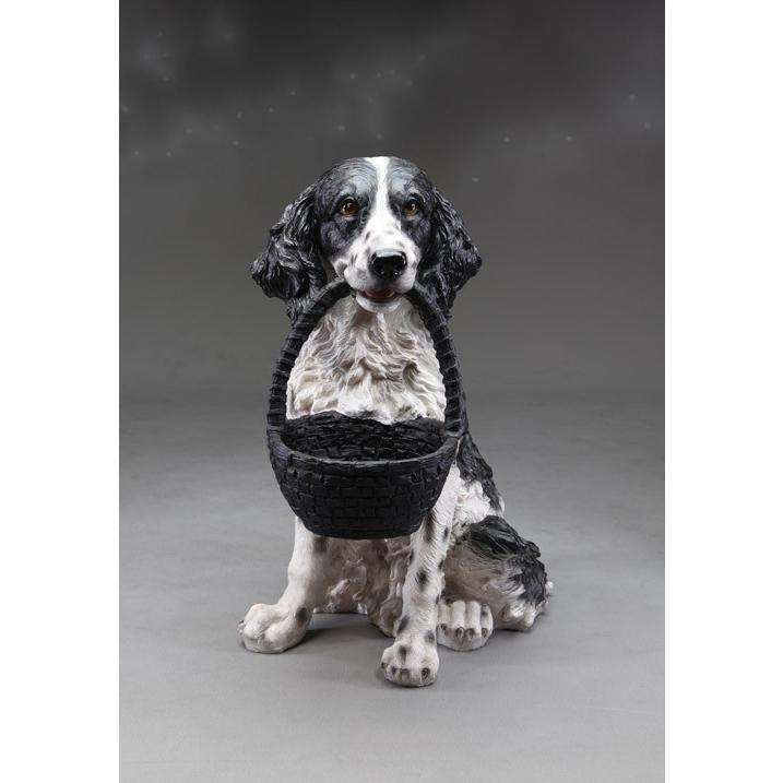犬の置物 ガーデニング ガーデンオーナメント 置物 オブジェ インテリア かわいい 雑貨 樹脂 いぬ ドッグ DOG 動物 ディスプレイ  【  ワンズバスケット 】