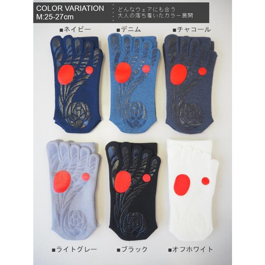 【ガッツマン】ゴルフのための滑らない五本指ソックス(VAMONOS) 踏ん張れる ぶれない スイング安定|chokucobin|02