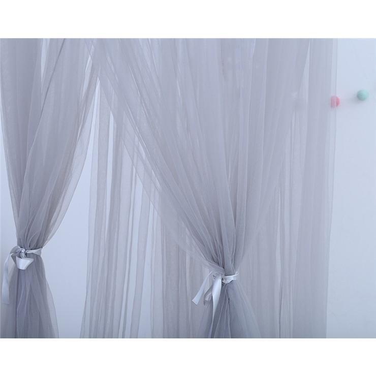 【星飾り付】7層紗製モスキートネット/スリーピングカーテン/キャノピー/モスキーノテント/天蓋ベッド風/蚊帳/かや/遊ぶテント/吊るし具付/子供部屋/北欧|chokuten-shop|07