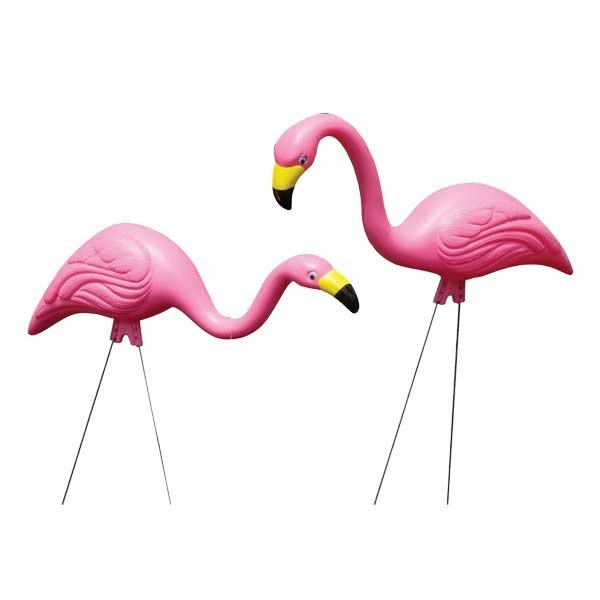 ガーデン アクセサリー ピンク 本物 フラミンゴ お気にいる ペア アメリカン雑貨 アメ雑 オブジェ 置物 60#039;s