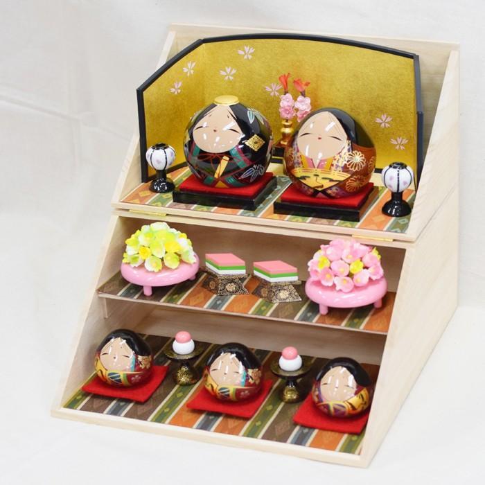 雛人形 大内ひな 2021 大内人形 大内塗工房ふるや 折りたたみ型 おひなさま 山口 送料無料 choshuen-y 02
