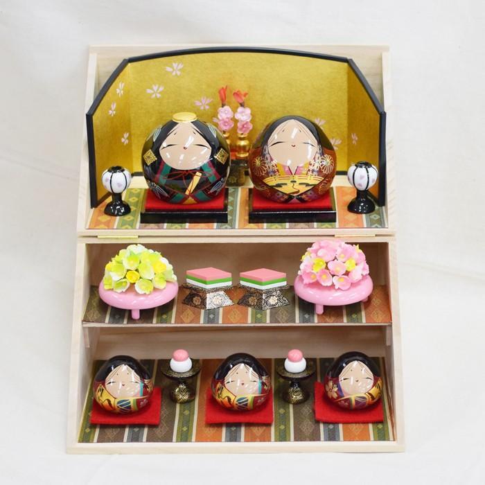 雛人形 大内ひな 2021 大内人形 大内塗工房ふるや 折りたたみ型 おひなさま 山口 送料無料 choshuen-y 03