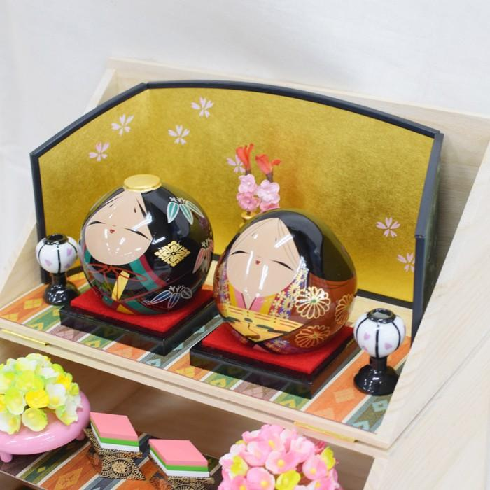 雛人形 大内ひな 2021 大内人形 大内塗工房ふるや 折りたたみ型 おひなさま 山口 送料無料 choshuen-y 05