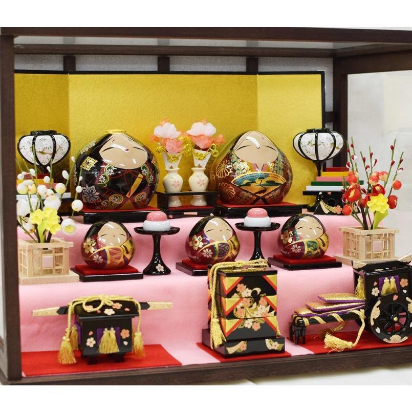 雛人形 大内ひな 2021 大内人形 大内塗工房ふるや 一点物 おひなさま 山口 送料無料|choshuen-y|08