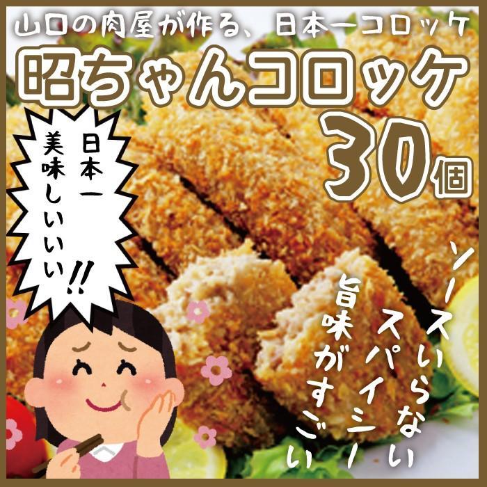 昭ちゃんコロッケ30個セット 冷凍 ギフトケース入り 金賞 山口 産地直送 ギフト お取り寄せ choshuen-y