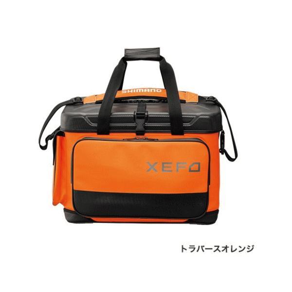 ≪'17年9月新商品!≫ シマノ XEFO・ロック トラバース バッグ BA-224Q トラバースオレンジ 45L