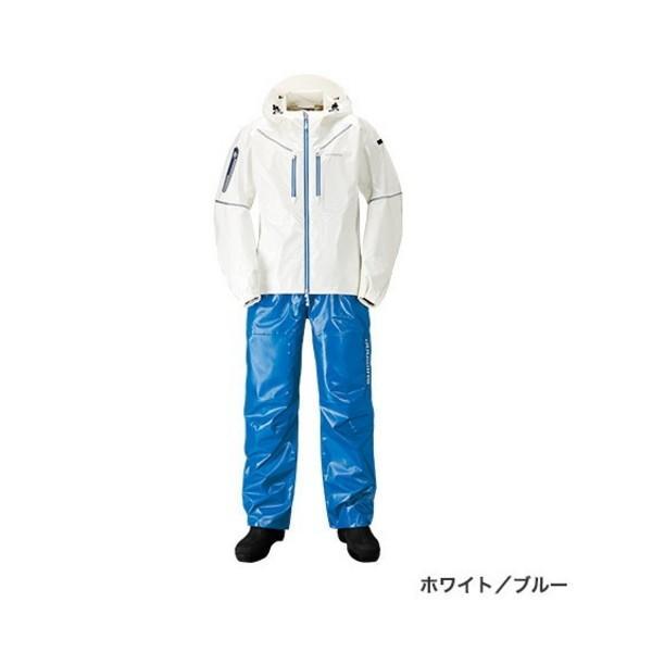 ≪'19年4月新商品!≫ シマノ SS・3Dマリンスーツ RA-033R ホワイト/ブルー XSサイズ