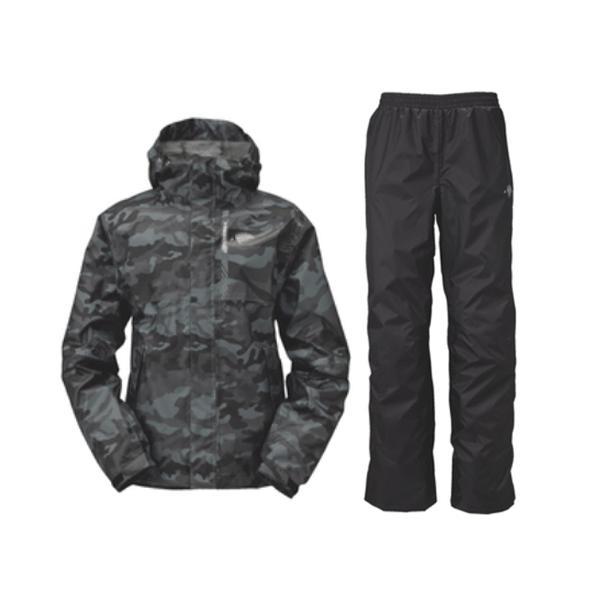 ≪'18年4月新商品!≫ ハヤブサ BOWSUI/2 レインスーツ Y6216 ブラックカモ(95) Sサイズ