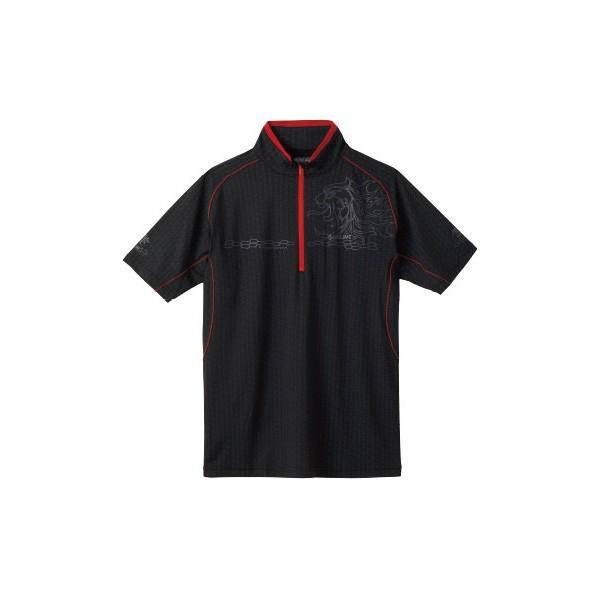 ≪'19年4月新商品!≫ サンライン テラックス クールドライ シャツ(半袖) SUW-5571CW ブラック LLサイズ