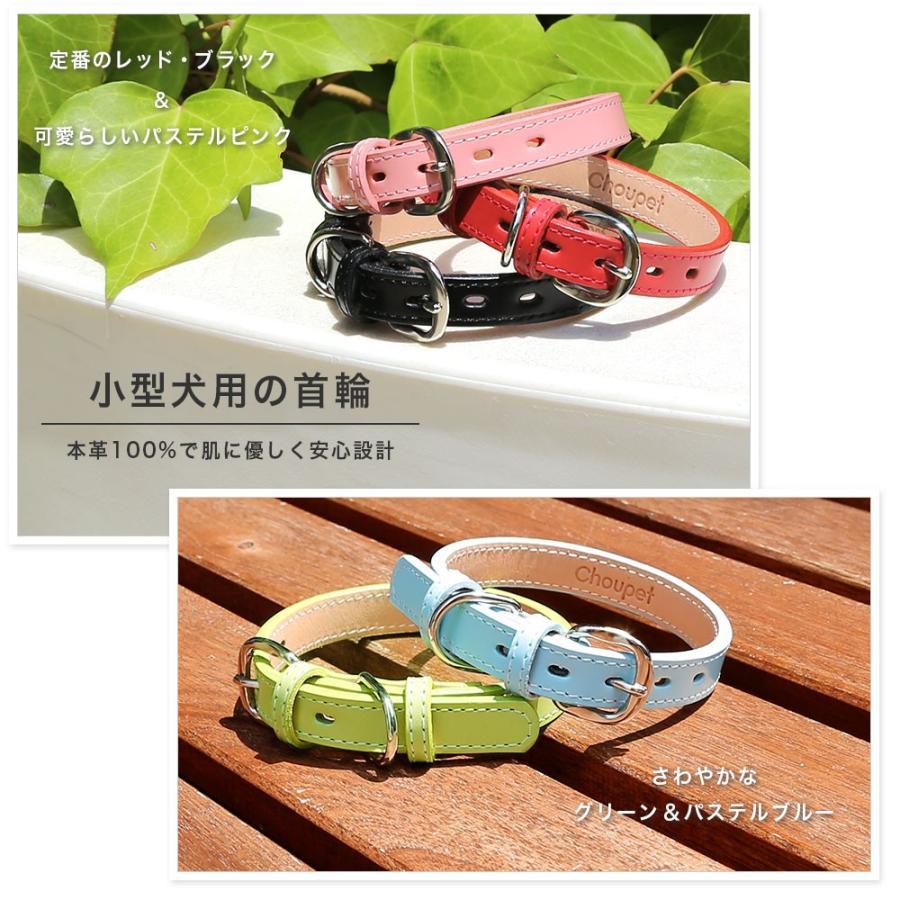 犬 首輪 犬の首輪 小型犬 中型犬 革 革製 皮 本革 レザー 栃木レザー おしゃれ かわいい カラー シンプル 15mm 18mm|choupet|02