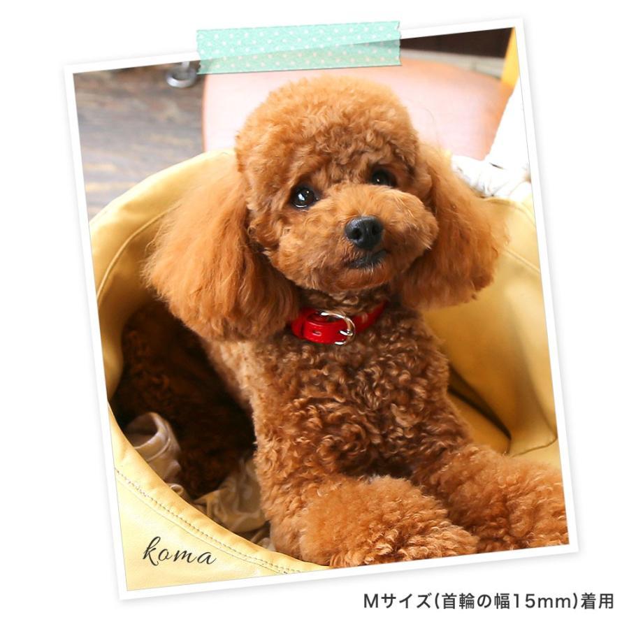犬 首輪 犬の首輪 小型犬 中型犬 革 革製 皮 本革 レザー 栃木レザー おしゃれ かわいい カラー シンプル 15mm 18mm|choupet|03