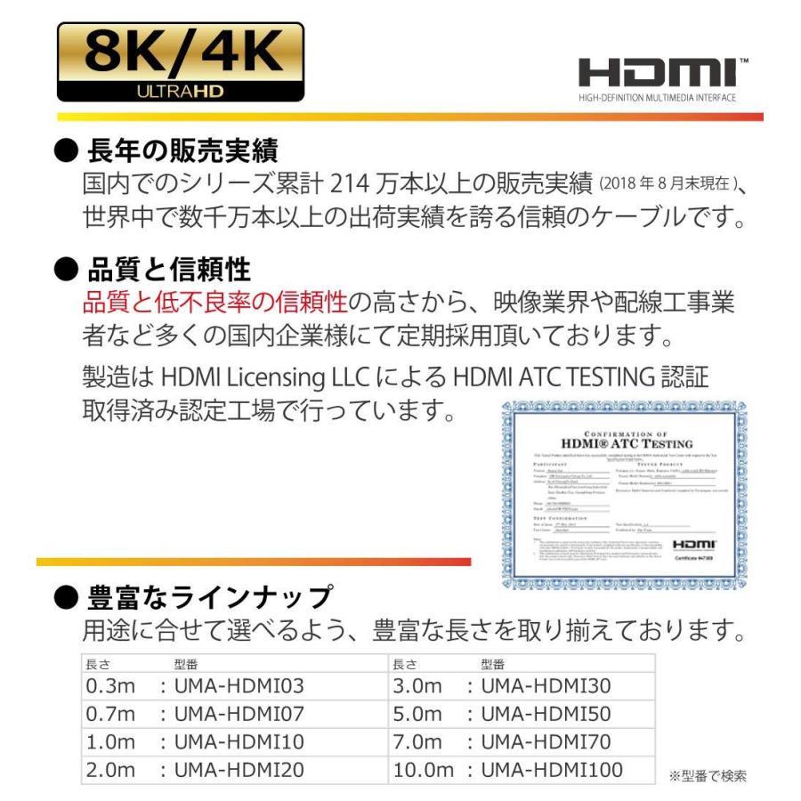 Hanwha スリム 4.2mm HDMIケーブル 3m [1年保証/相性保証][Ver2.0b][8K/4K/3D/イーサネット/オーディオリターン][ハイスピード][コンパクト端子][高耐久やわらか|chowise-shop|02