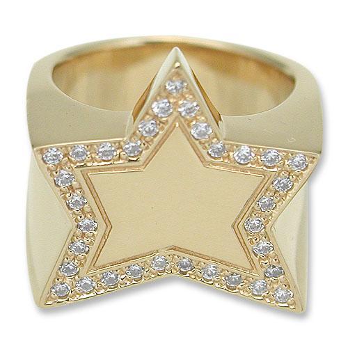 驚きの値段 KING LIMO(キングリモ):King Gold Star Ring/18K Gold Plate KING w/Pave Ring/18K CZ(キングスターリング/18Kゴールドコーティングw/パヴェCZ), 越廼村:48632489 --- airmodconsu.dominiotemporario.com