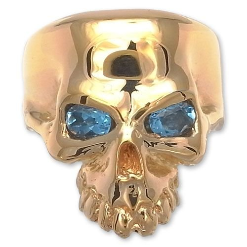 最終決算 KING LIMO(キングリモ):Rooster KING Ring Ring/18K/18K Gold Plate w/Blue Plate Topaz(ルースターリング/18Kゴールドプレートw/ブルートパーズ), あおいくま:0603af9d --- airmodconsu.dominiotemporario.com