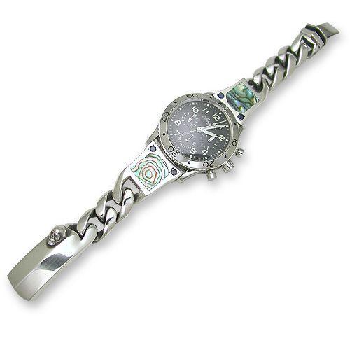 【超ポイントバック祭】 Classic Clip Shell Links Shell Watch Inlaid Connector w/Sapphire Phantom Clip Watch Band(クラシックリンクシェルコネクターw/サファイアファントムクリップウォッチバンド), ストレイン:311f980f --- airmodconsu.dominiotemporario.com