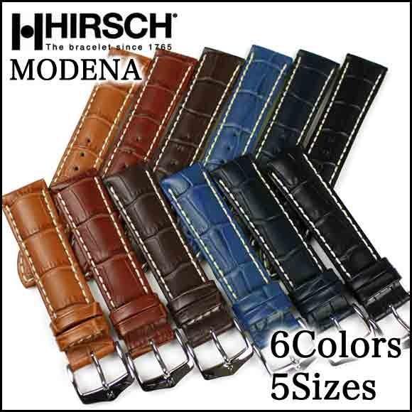 時計 ベルト バンド HIRSCH Modena モデナ アリゲーター型押し レザー 革 18mm 19mm 20mm 22mm 24mm chronoworldjapan