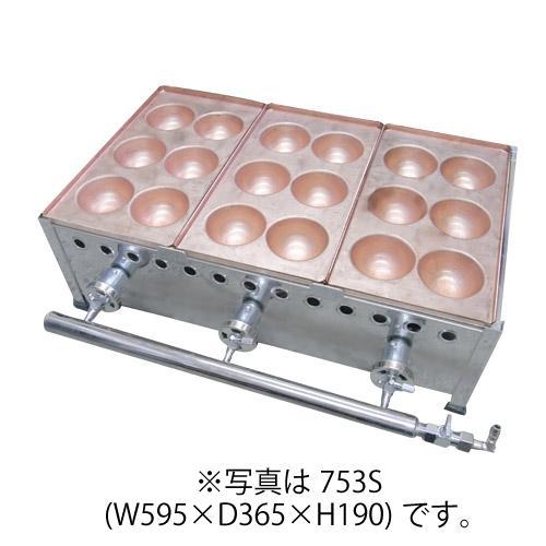 IKK 爆弾焼き器 6穴×5連 銅板 755S 【送料無料】