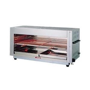 グリラー 業務用 ガス赤外線上火式グリラーワイドタイプ AS-6360 13A メーカー直送/代引不可(7-0706-0302)