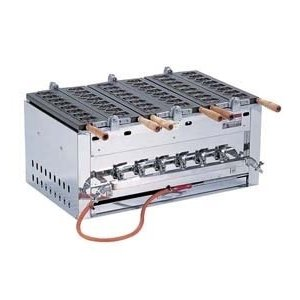 SAイカたこ焼ガス台[24ヶ型]SAIKA-3型 12·13A たこ焼き器 たこ焼き機 鉄板 業務用 送料無料 器具 道具 小物 作業 調理 料理(7-0933-0202)