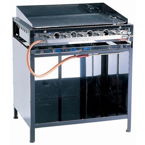 鉄板焼き機 業務用 グリドル 焼きそば・フランクフルト・お好み焼ガス台 EGYT-8型 LPガス メーカー直送/代引不可(7-0946-0405)
