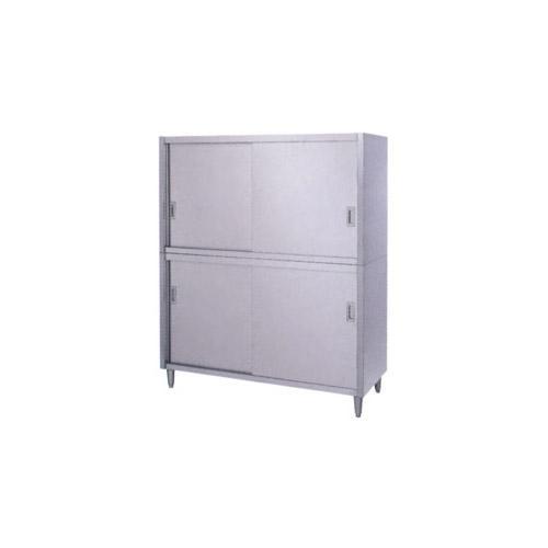 シンコー食器戸棚SUS430(片面上下ステンレス戸仕様)C-18060