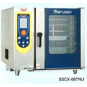 【新品】マルゼン 電気式スチームコンベクション ハンドシャワー巻き取り式 芯温センサー3本 パススルー SSCX-P06TNU