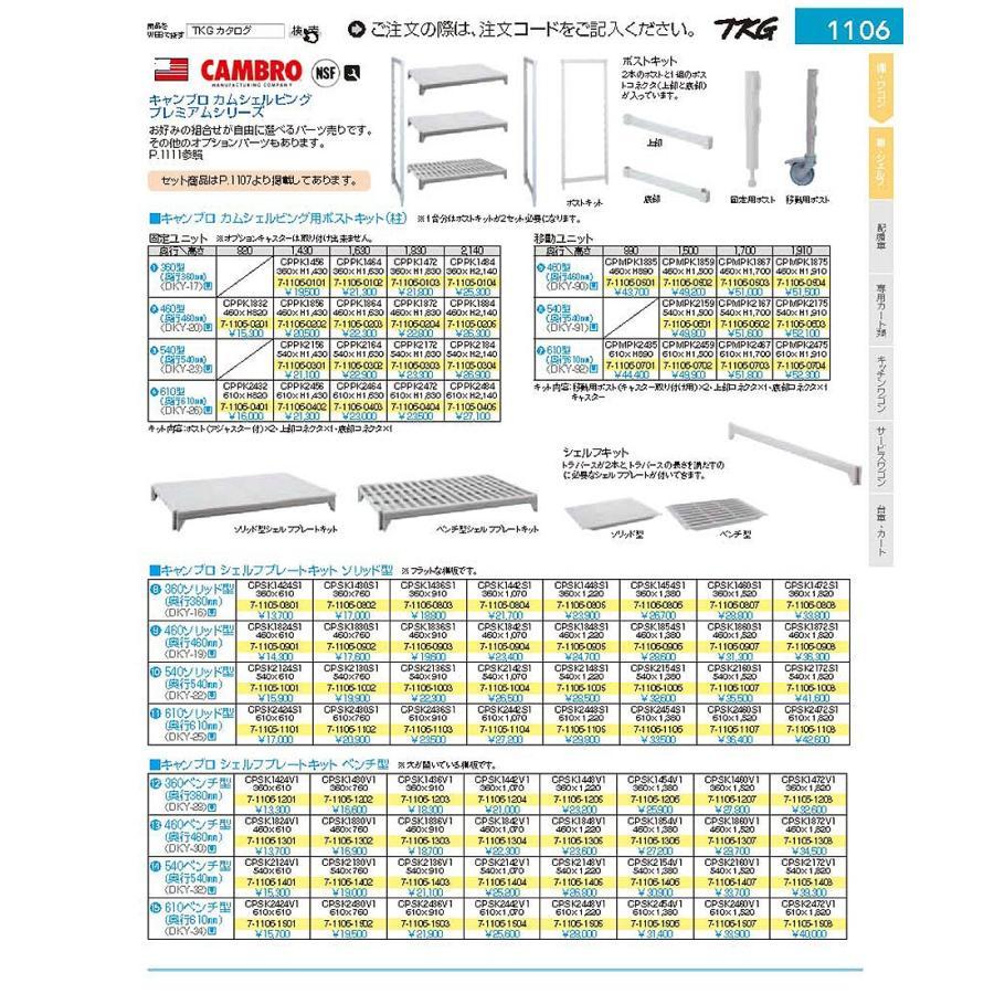 610移動カムシェルビング用ポストキット CPMPK2475