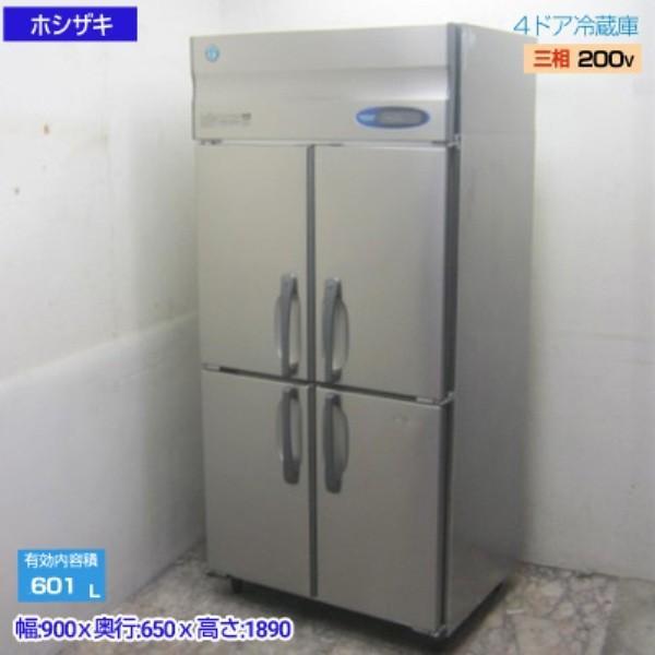 中古厨房 '16ホシザキ 縦型4ドア冷蔵庫 HR-90ZT3-ML 900×650×1890 /19H0109Z