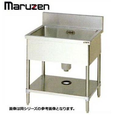 シンク 業務用 ステンレス BG付 流し台 1槽 マルゼン BS1-127 1200×750×800