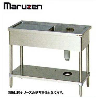 シンク 業務用 ステンレス BG無 1槽 水切付 SUS304 マルゼン BSM1X-127N 1200×750×800